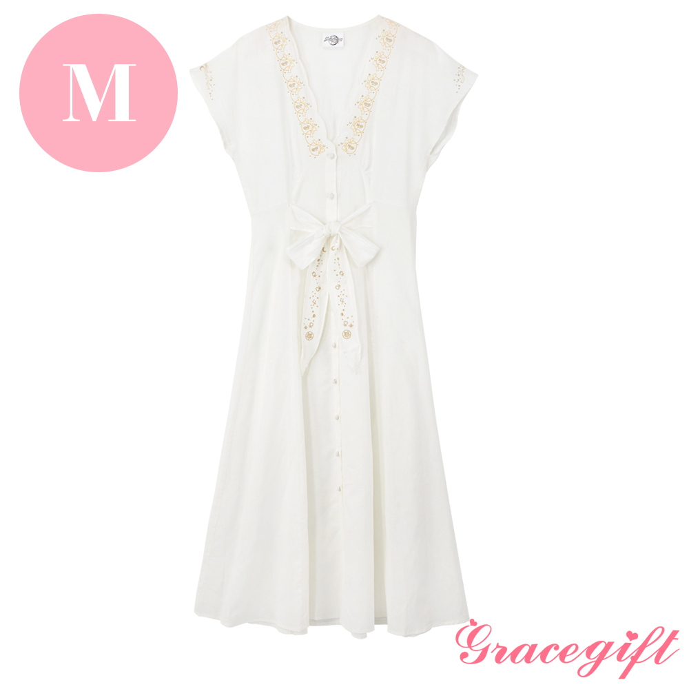 Grace gift-美少女戰士聯名電繡綁帶洋裝 M