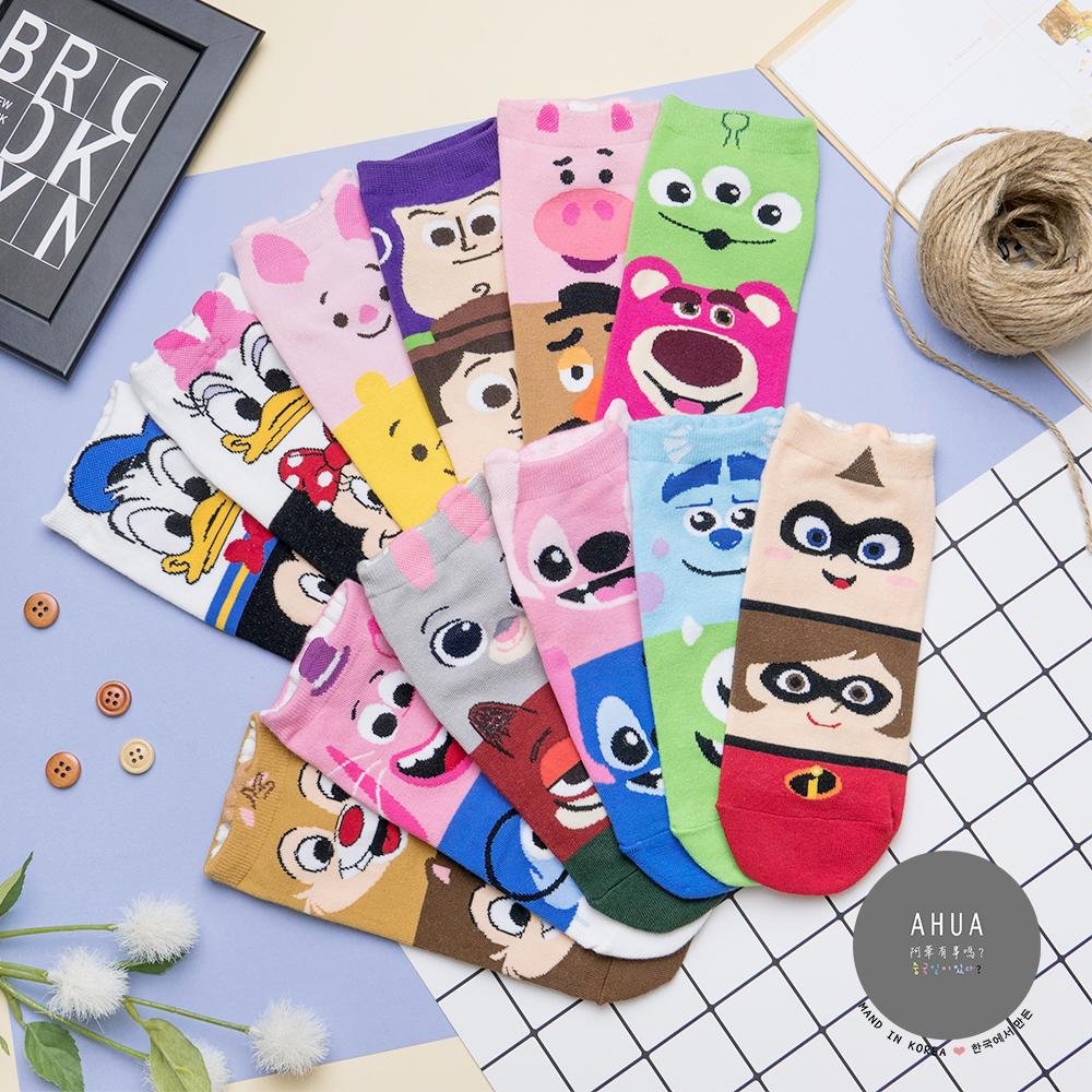 阿華有事嗎 韓國襪子 迪士尼拼接卡通短襪 韓妞必備卡通襪 正韓百搭純棉襪