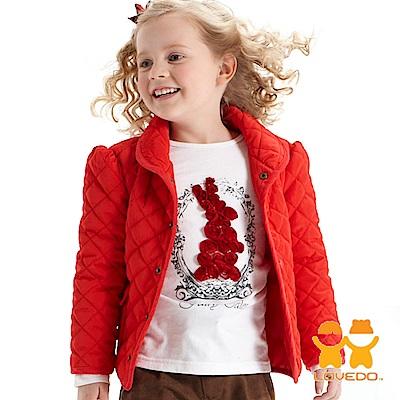 【LOVEDO-艾唯多童裝】法式魅力 保暖鋪棉外套(紅)