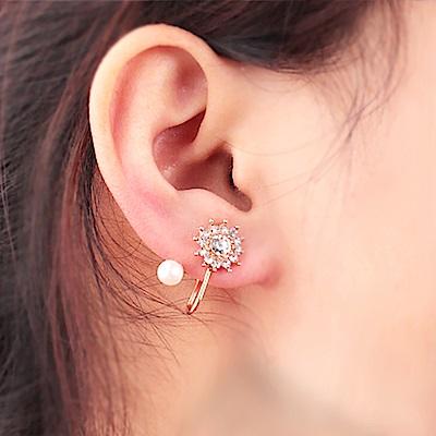 Hera 赫拉 向陽花別緻珍珠耳環(2色)