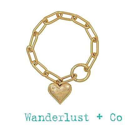 Wanderlust+Co Stella 金色星辰小盒手鍊
