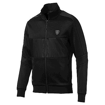 PUMA-男性法拉利經典系列T7立領外套-黑色-歐規