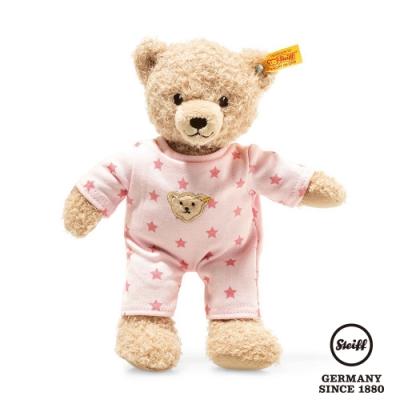 STEIFF德國金耳釦  Teddy bear girl baby with pyjama 星星睡衣小女孩 (嬰幼兒玩偶)