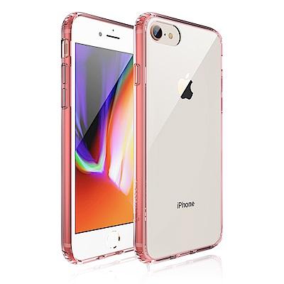 JTLEGEND iPhone 8 雙料減震保護殼-透粉