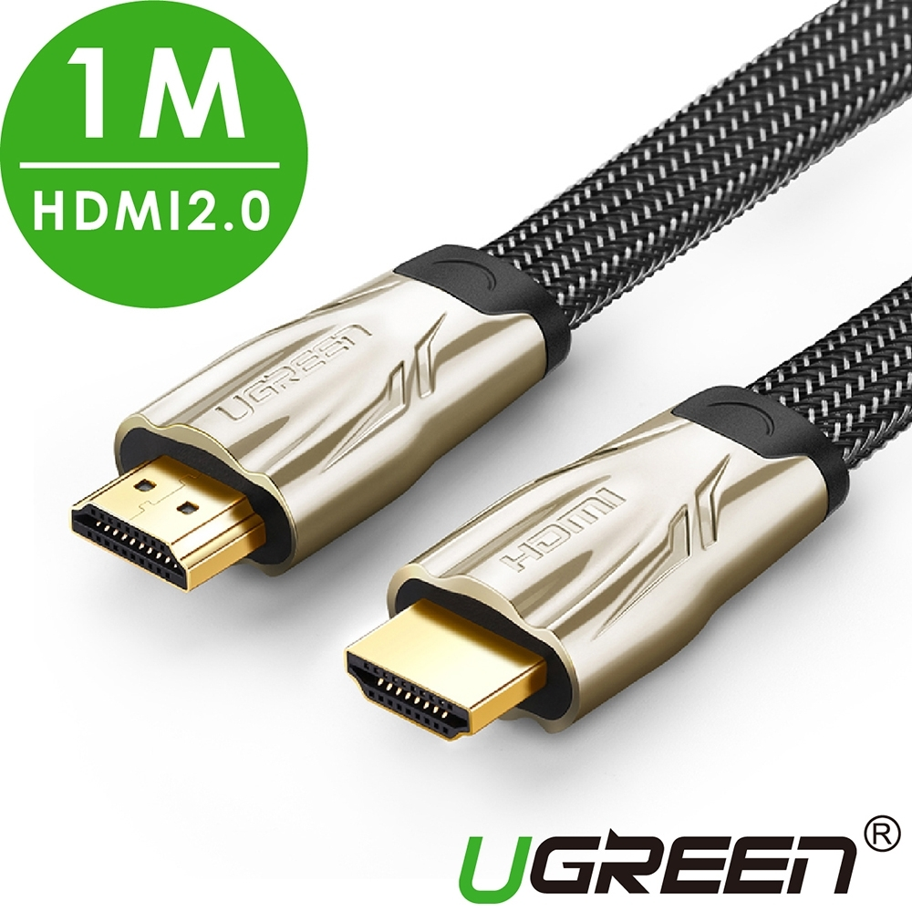 綠聯 HDMI2.0傳輸線 BRAID FLAT版 1M product image 1