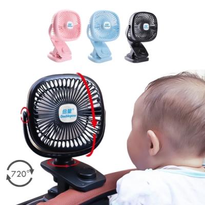 colorland 自動搖頭 嬰兒車風扇電扇USB夾扇720°廣角充電可變速