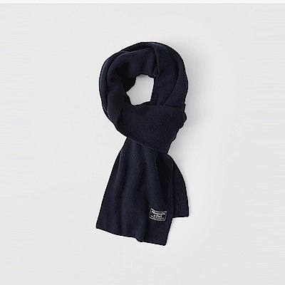 A&F 經典標誌舒適保暖圍巾-深藍色 AF Abercrombie