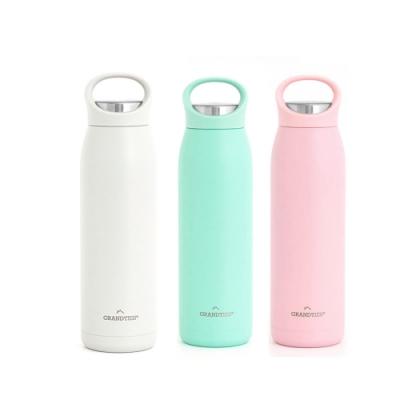 美國【GrandTies】手提式700ML真空不鏽鋼保溫瓶/保溫杯(珍珠白/霧玫瑰/清新綠)保冷/保溫