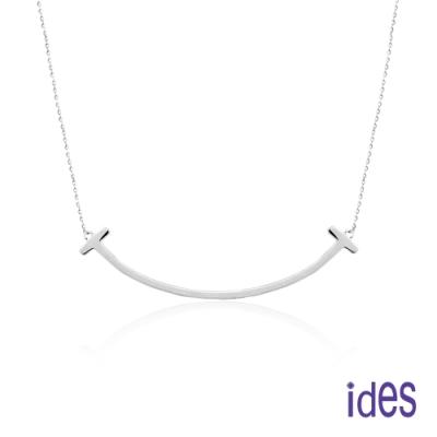 ides愛蒂思 日韓時尚設計純銀項鍊/微笑