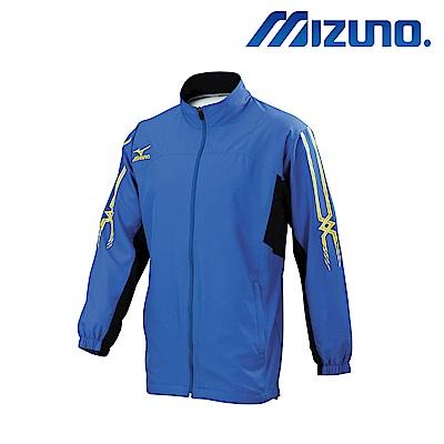 MIZUNO 美津濃 男平織風衣套裝上衣 亮藍X靛藍 32TC658525