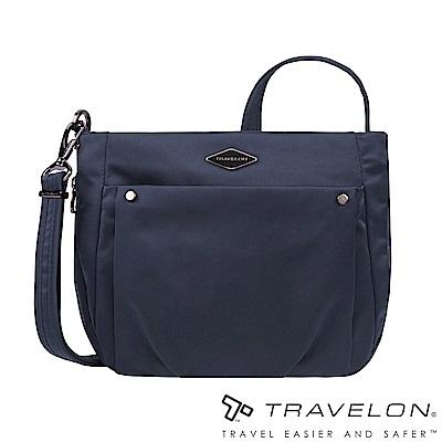 Travelon美國防盜包 PARKVIEW可擴充中型斜背肩包TL-43407-19深藍