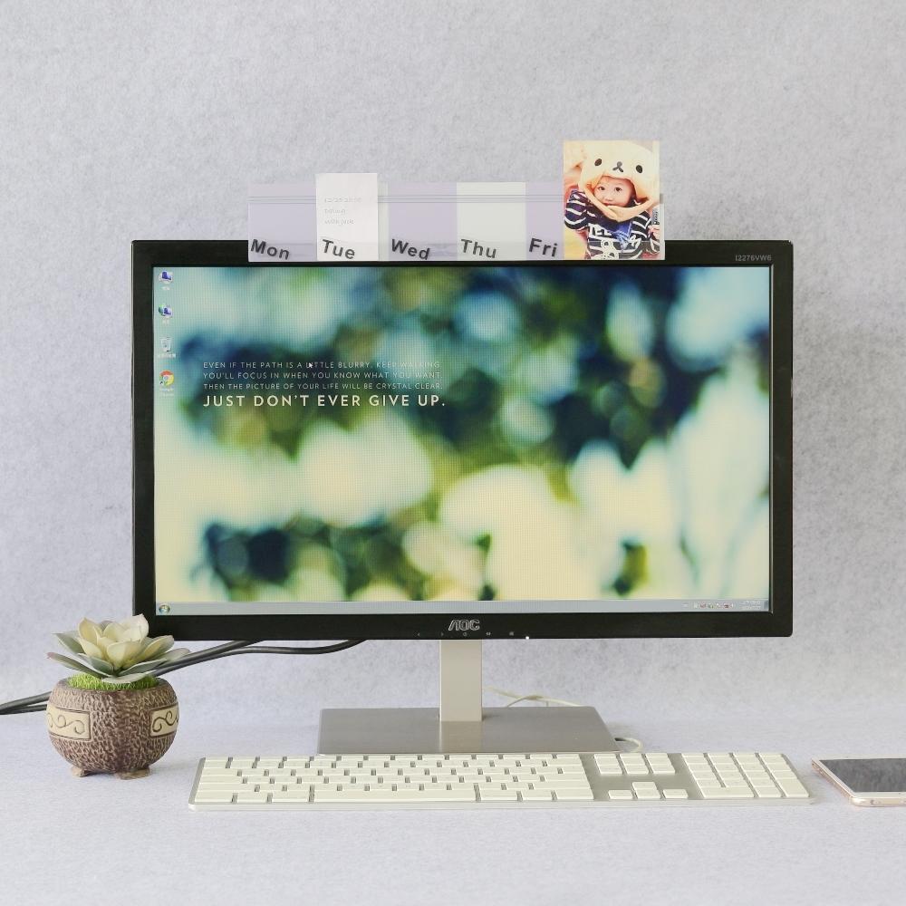 OSHI歐士 電腦螢幕留言備忘版-週計畫(造型紫)