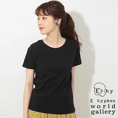 E hyphen 百搭基本款圓領棉質短袖T恤