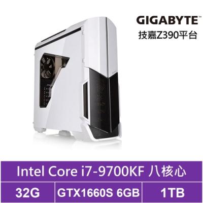 技嘉Z390平台[獵妖狂神]i7八核GTX1660S獨顯電玩機