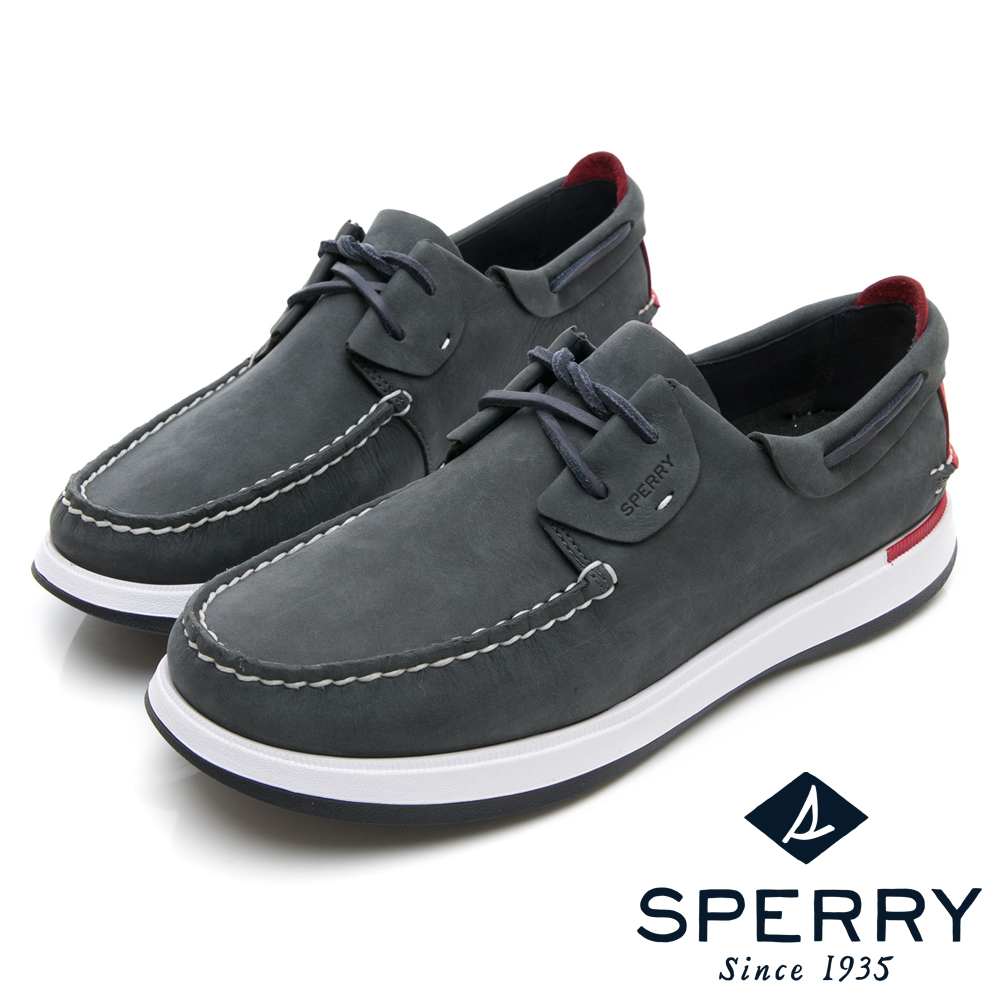 SPERRY 紳士休閒手工縫製帆船鞋(男)-海軍藍