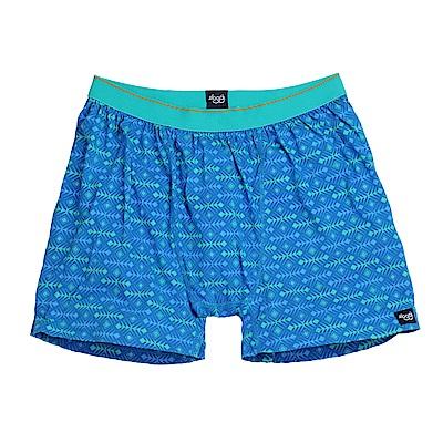 sloggi men-寬鬆系列Tattoo 針織平口內褲 M-XL (藍)
