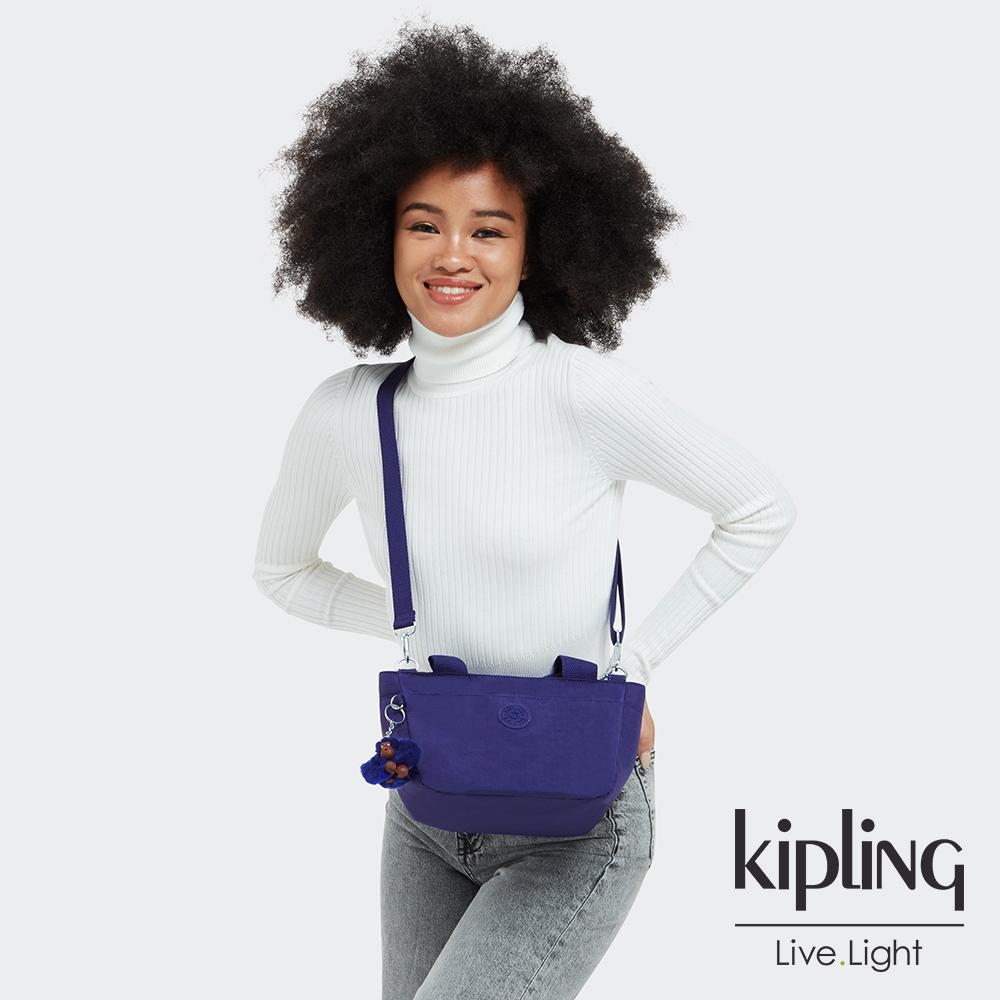 Kipling 氣質琉璃藍手提兩用斜背包-SUGAR S II