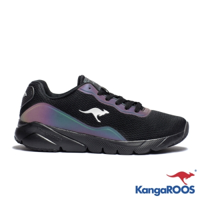 KANGAROOS RUN SWIFT 科技幻彩跑鞋(黑)