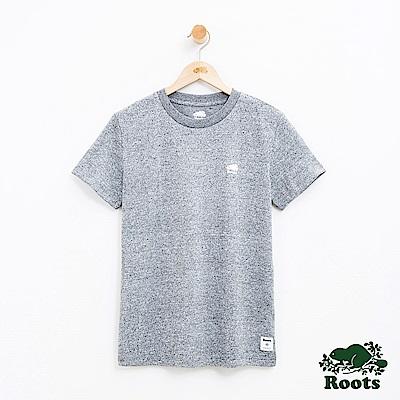 女裝Roots 左胸海狸短袖T恤-灰色