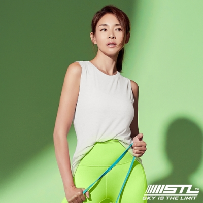 STL yoga 韓國瑜珈 ESSENCE SL 運動機能本質輕透無袖背心上衣 白BrightWhite