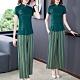綠色復古民族衣褲二件套裝S-3XL-REKO product thumbnail 1