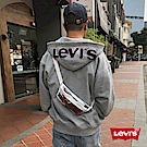 Levis 男款 連帽外套 Oversize 大Logo帽子 LOGO抽繩 灰