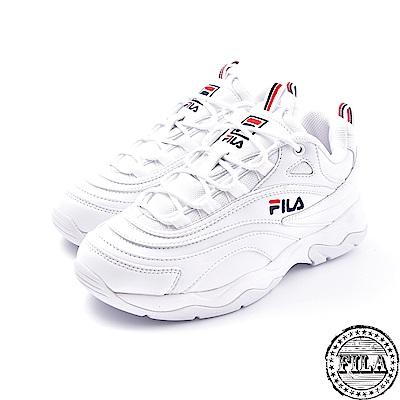 FILA  韓版厚底老爹鞋 台灣公司貨 4 C614S 112