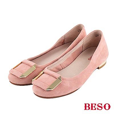 BESO 甜心風格 方釦娃娃鞋~粉