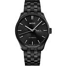 MIDO美度錶 Belluna Gent系列時尚紳士腕錶-黑/42.5mm