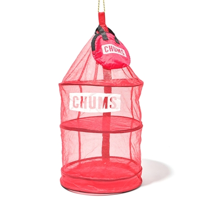 CHUMS Hanging Dry Net 吊掛網籃 紅色-CH6215440000