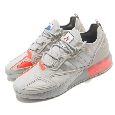 adidas 休閒鞋 ZX 2K Boost 聯名款 男鞋 愛迪達 NASA 緩震 球鞋穿搭 灰 銀 FX7028