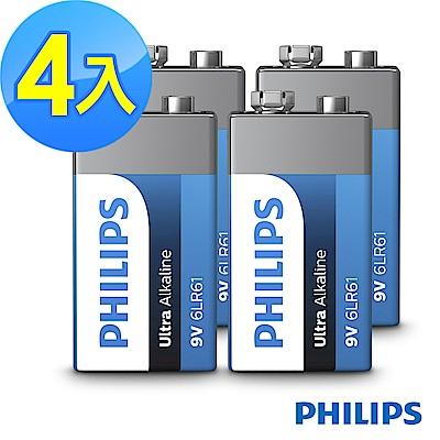 【PHILIPS飛利浦】9V超鹼電池( 4顆 )