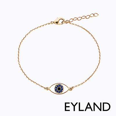 Eyland英國倫敦 LUANA 藍色睛靈水晶鍍金手鍊
