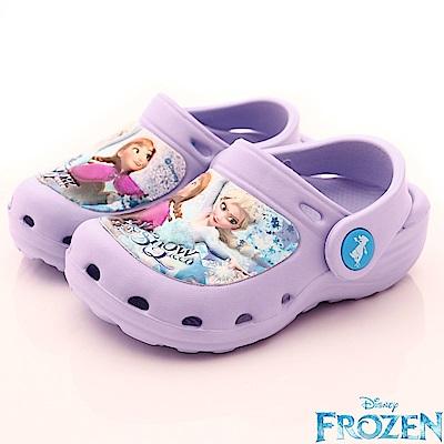 迪士尼童鞋 冰雪超輕量涼鞋款 EI4017紫(中小童段)