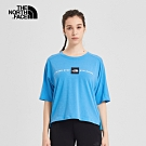 The North Face北面女款藍色吸濕排汗短袖T恤|46J1JA7