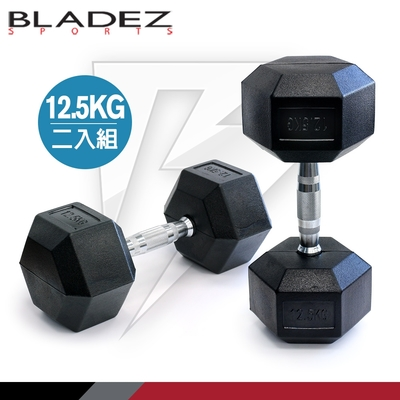 【BLADEZ】六角包膠啞鈴-12.5KG(二入組)