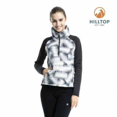【hilltop山頂鳥】女款ZISOFIT保暖吸濕抗菌刷毛上衣H51FI7黑