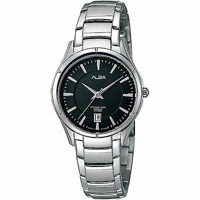 ALBA雅柏 城市旅行 簡約設計女錶(AH7613X1)-黑/28mm