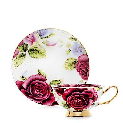 Royal Duke 骨瓷咖啡杯碟組-大紅花(二杯二碟)