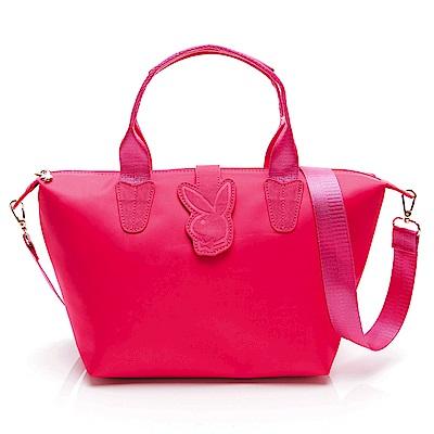 PLAYBOY-手提包 輕亮夏日系列 -桃紅色