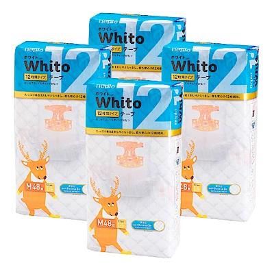 Nepia Whito王子白色系列黏貼紙尿褲 日本境內十二小時版 M 48片x4包/箱