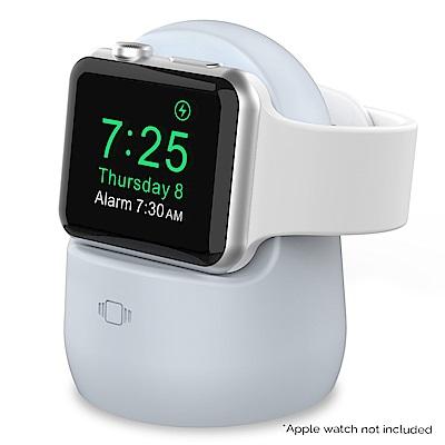 AHAStyle Apple Watch矽膠充電底座 淺藍
