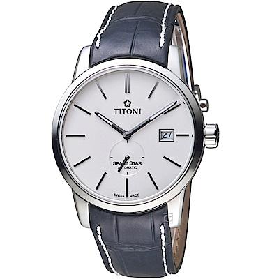 TITONI 天星系列經典機械腕錶(83638S-ST-606)