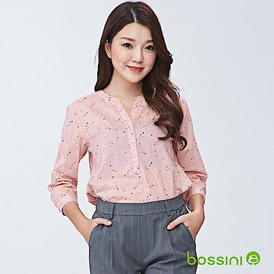 bossini女裝-印花七分袖罩衫01嫩粉