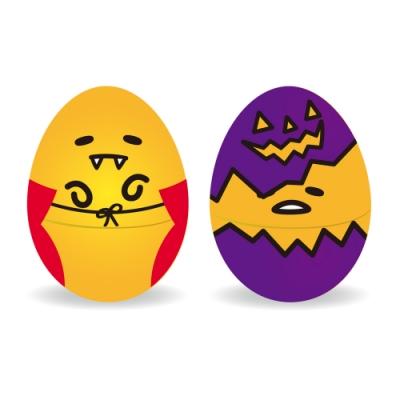 巧趣多蛋黃哥巧克力糖造型蛋30g-萬聖節2入組(吸血鬼+壞蛋)