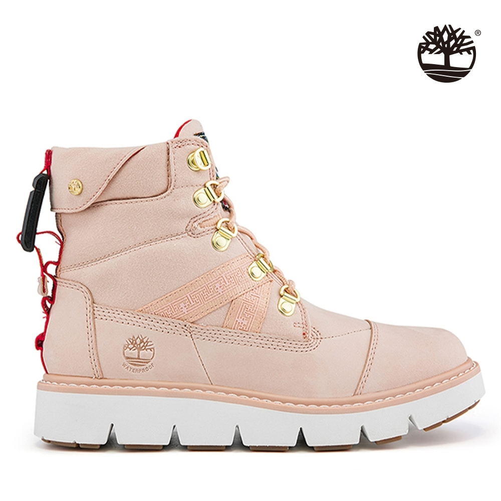 Timberland 女款淺粉色磨砂革新年EK+防水靴 A2PXQ