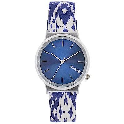KOMONO Wizard Print 腕錶-藍色蠟染/37mm