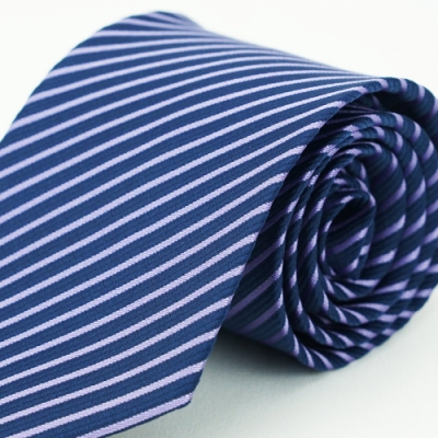 Alpaca 深藍斜紫紋領帶