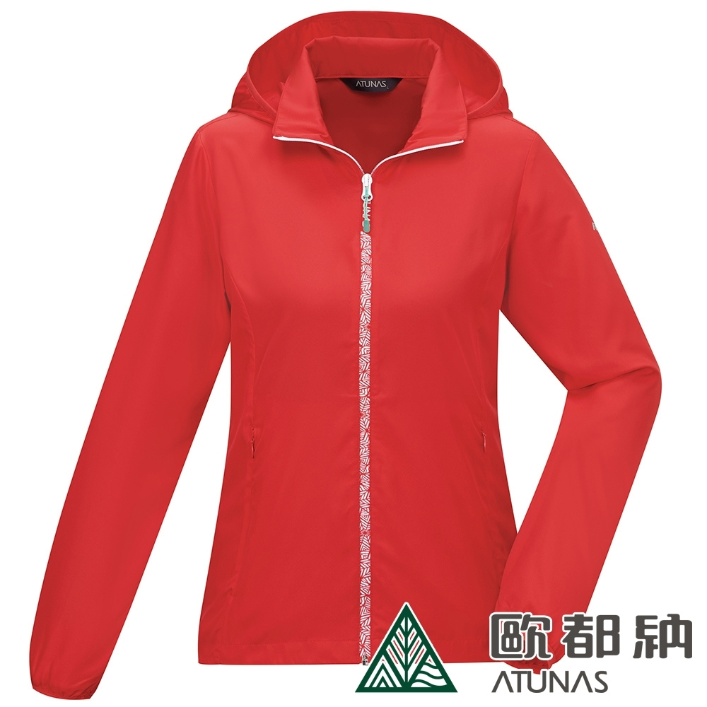 【ATUNAS 歐都納】女款精彩隨行防曬透氣輕薄休閒連帽外套A2GA2002W紅