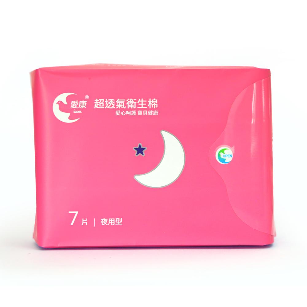 愛康 超透氣衛生棉 28cm夜用型 7片